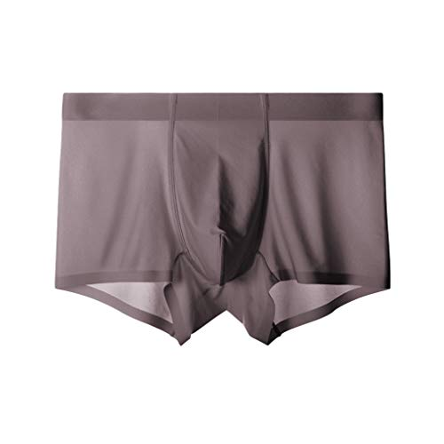 Setsail Herren Breathable Ice Silk Mode Unterwäsche Silk rutschfeste dünne Beutel-Unterhose Bequeme stretchunterhose -