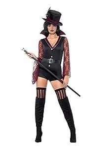 Smiffys 44771M - Disfraz de vampiro para mujer, talla M, color negro