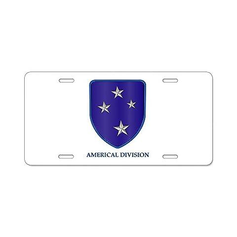 CafePress - Americal Division Aluminum License Plate - Aluminum License Plate, Front License Plate, Vanity Tag