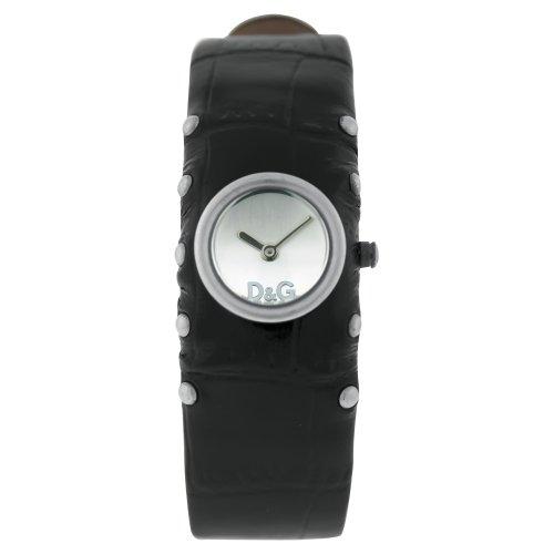 D&G Dolce&Gabbana Damen-Armbanduhr COTTAGE SS SLV DIAL BLK STRAP DW0351