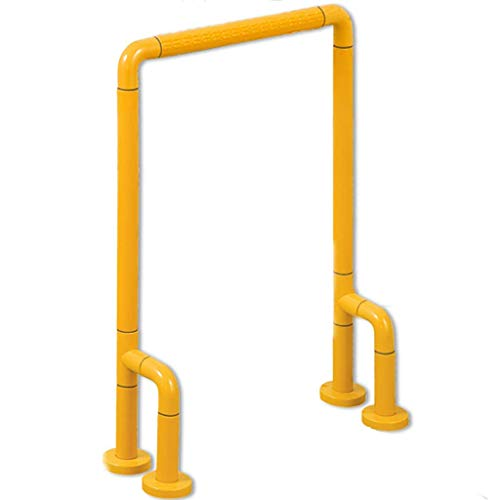 Wc-support Rails (Badezimmer-Support Grab Bar Handle Sicherheit Duschlatzierung Rails Armrest Floor Standing Toilette Portable Support für Kinder und die Älteren,Yellow)