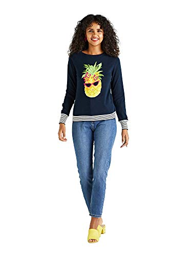 Preisvergleich Produktbild Tropical Pineapple Embellished Jumper