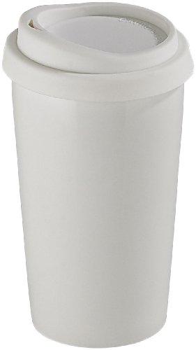 Rosenstein & Söhne Keramik Thermobecher: Coffee-to-go-Becher aus Keramik, Silikondeckel, 250 ml, doppelwandig (Coffee To Go Becher Silikon Deckel)