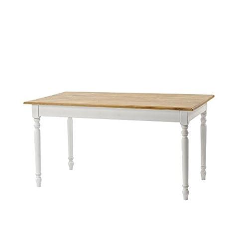 PAJOMA 53359 Esstisch Classic im Landhausstil, Holzfaser/Paulownie, Maße: L 150 x B 85 x 79 cm