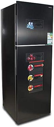 Nikai Fully Nofrost Refrigerator 11Cubic Feet,313Liters, Inox Color