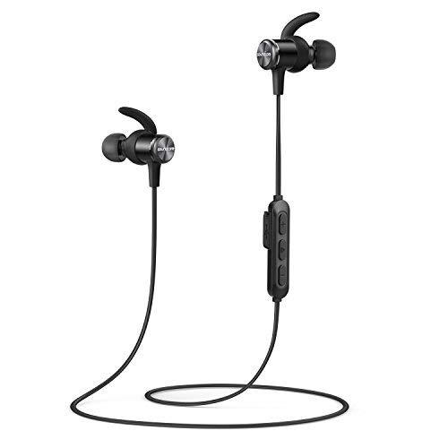 Anker Soundcore Auricolari Sportivi Spirit, Cuffie, con Bluetooth senza fili, Autonomia Batteria fino a 8 ore, tecnologia SweatGuard IPX7, Vestibilità sicura per lo Sport e Allenamenti