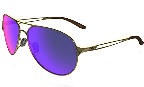 Oakley Damen Caveat Aviator Sonnenbrille, Polished Gold/Red Iridium (S3)/Red Iridium (S3) (Iridium Gold Sonnenbrille Oakley)