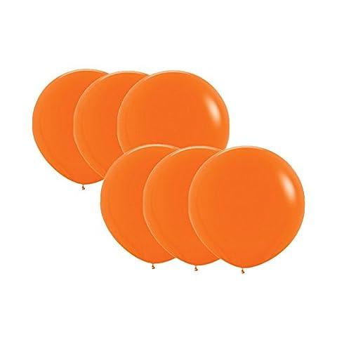 Sherry-K Lot de 6 Ballons 45CM, Orange