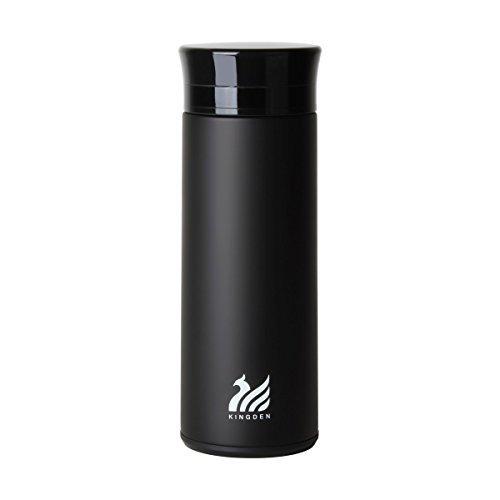 UPSTYLE auslaufsicher Glas rutschsicher Thermoses Wasser Flasche Business vakuumisoliert Thermobecher Edelstahl Thermoskanne Kaffee Erhaltung Wärme Vakuum Cup-Größe Nur 8.7oz (260ml), Schwarz