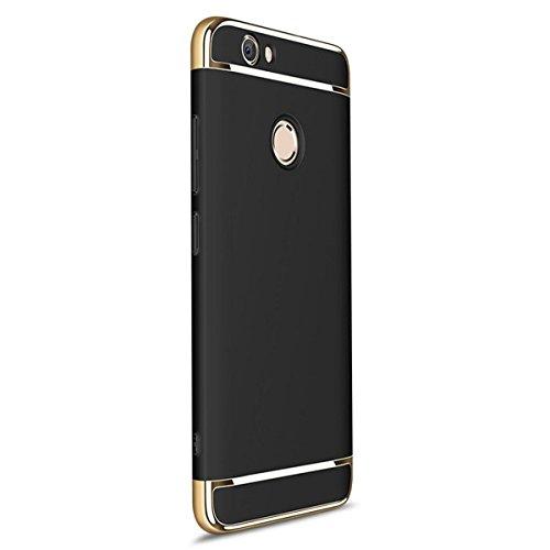 Funda Huawei P8 Lite (2017) / honor 8 lite/ Nova Lite Qissy® 3 en 1 Ultra delgado Bumper Carcasa Anti-Scratch Slim Fit Protectora Case Cover para Huawei P8 Lite 2017 teléfono (Negro)