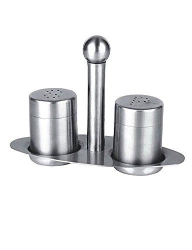 Edelstahl Salz Pfeffer Flasche Set Silber