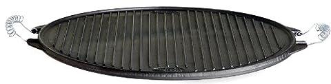 La Ideal Round Cast Iron Griddle, Black, 25 cm, Pack of 6