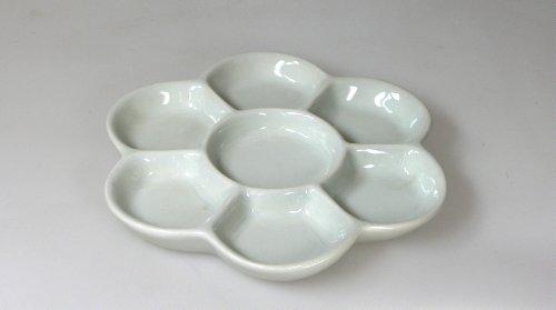 Lukas Porzellan-Palette, Blumenform, weiß glasiert, Durchmesser 155mm