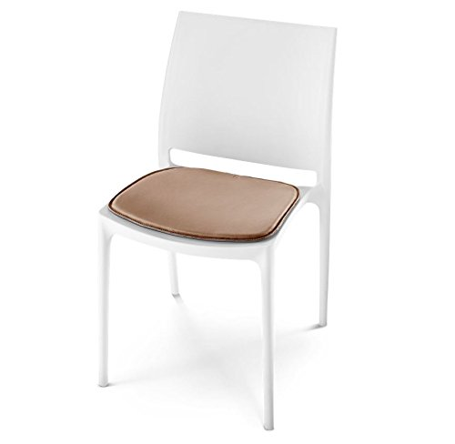 HILLMANN LIVING Stuhlkissen KVADRA aus Leder für Stuhl und Bank in schwarz, 38 x 38 x 1 cm eckig...