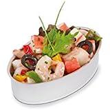Lata de aperitivos de Supreminox, ovalada, de aluminio y plata, 11x 7x 30cm