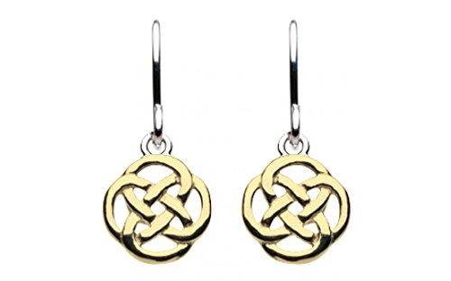 Heritage, in argento Sterling e oro-Orecchini pendenti, con motivo nodo celtico