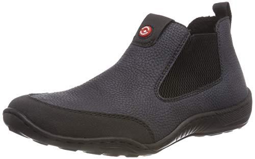Rieker Damen N5290 Chelsea Boots, Blau Pazifik/Schwarz 01, 40 EU