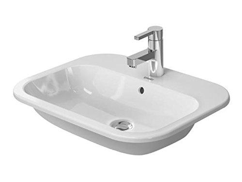 Duravit Happy D.2 Einbauwaschtisch weiß 600 mm, 600 x 460 mm, mit Wondergliss, 04836000001