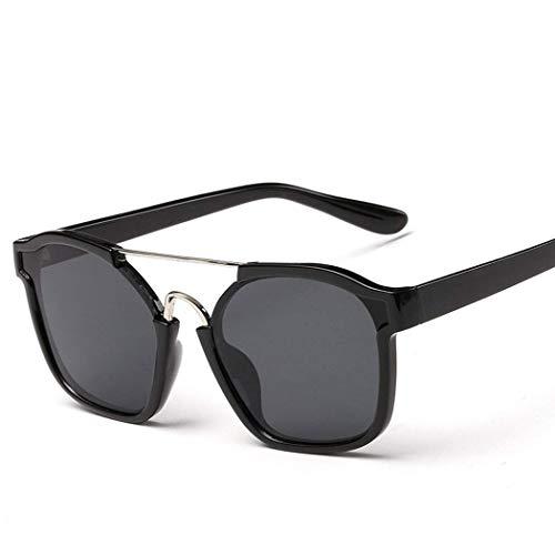 GUGU Polarisierte Herren-Sonnenbrille - mattschwarze Unisex-Fassung mit UV400-Spiegelgläsern, PU-Hartledertasche, Reisetasche, Mikrofaser-Reinigungstuch und Geschenkbox
