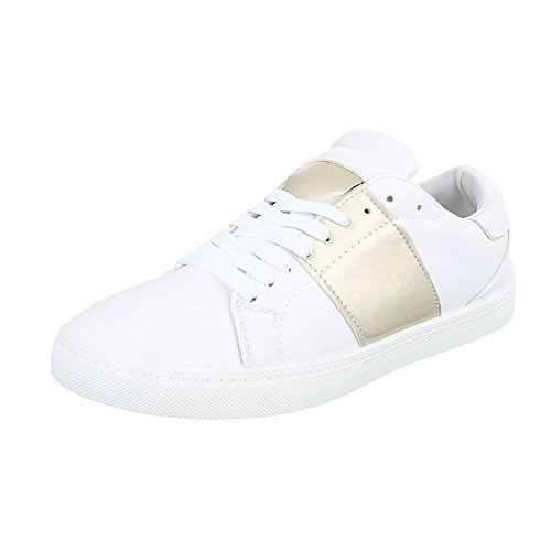 Ital-Design - Low-top Donna Weiß Gold T207P