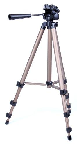 "DuraGadget - ""STAR 75"" Tripod für PANASONIC HC-V777EG-K / HC-V380EG-K / HC-V180EG-K / HC-X920 Camcorder"