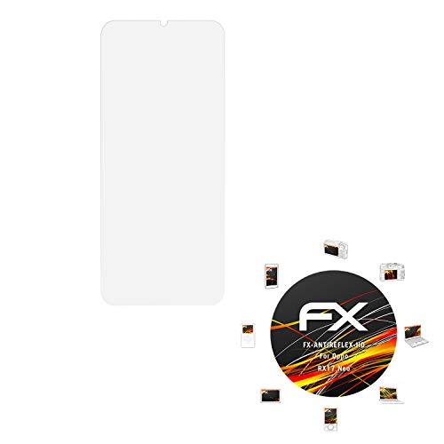 atFolix Schutzfolie kompatibel mit Oppo RX17 Neo Bildschirmschutzfolie, HD-Entspiegelung FX Folie (3X)