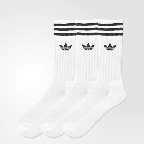 Adidas 3 pack solid crew uomo calzino bianco