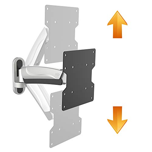 RICOO Monitor Halterung Wand S2622 Universal für 13-47 Zoll (ca. 33-119cm) Gasfeder Schwenkbar Neigbar TV Wandhalterung Halter auch für Curved LCD und LED Fernseher | VESA 100x100 200x200 Silber Grau (47-wandhalterung-tv)