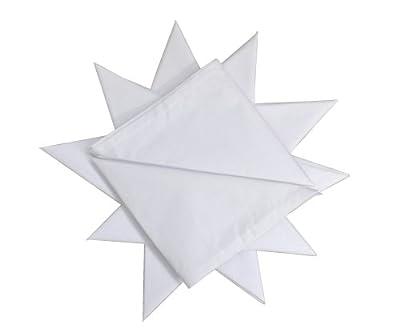 "12 Pack Men's 100% Cotton White Handkerchief 16"" x 16"" (40cmx40cm) : everything £5 (or less!)"