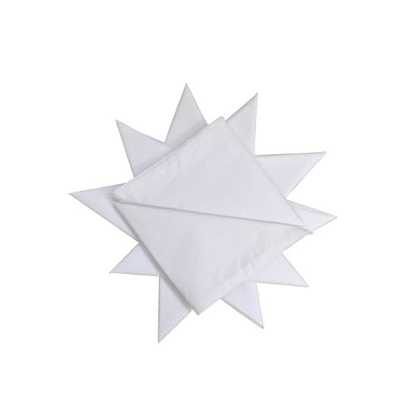 12 Pack Men's 100% Cotton White Handkerchief 16″ x 16″ (40cmx40cm) 31nOPGdCnXL