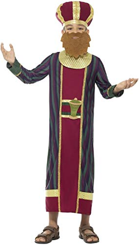 Boys Wise Man King Balthazar Christmas Nativity School Play Religious Biblical Story Manger Scene Fancy Dress Costume Outfit 4-12 Years (7-9 ()