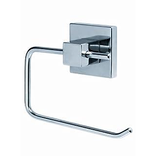 AquaConcept WC-Papierhalter ohne Deckel, Zink verchromt, Silber, 9.6 x 13 cm,