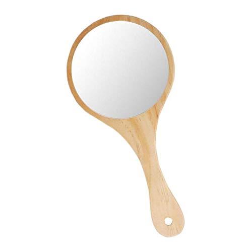 SaniMomo Espejo De Maquillaje De Madera Exquisito Rústico Espejo De Mano - Madera, Individual