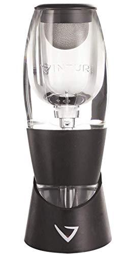 Vinturi Weinbelüfter und Weindekanter inkl. Boden - verstärkte Aromen mit glatterer Oberfläche schwarz Vinturi Aerator