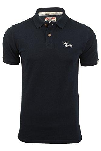 Herren Pique Polo T-Shirt von Tokyo Laundry `Florenzi`kurzärmlig Dark Navy