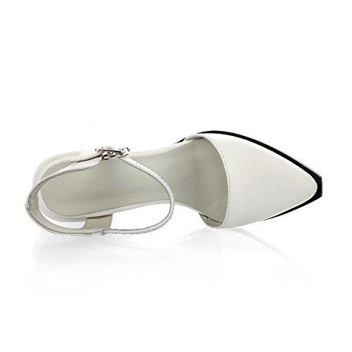 Adee Mesdames pointed-toe massif en cuir Sandales Blanc