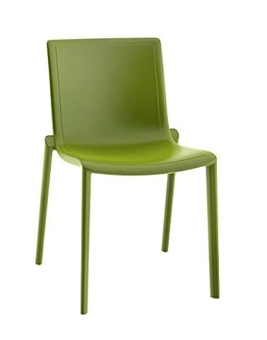 Resol chaise Kat - couleur vert olive, set de 2 unités
