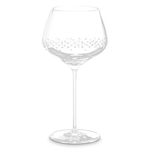 Merandi - set di 2 bicchieri da borgogna heru, con cristalli swarovski®, 725 ml