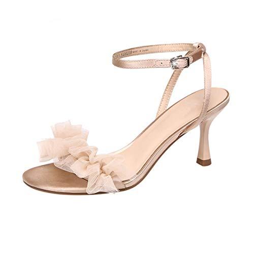 LIYANJIN-LadiesSandals Damen Sandalen, Sommer Trend einfache Sandaletten, Mode Fairy Wind -