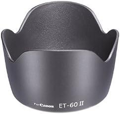 Hanumex EOS Et 60 Replacement 18-55Mm 55-250Mm Flower Lens Hood Camera Lens - Black