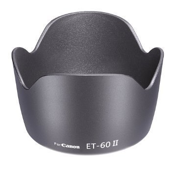 Hanumex EOS Et 60 Replacement 18-55Mm 55-250Mm Flower Lens Hood Camera Lens - Black