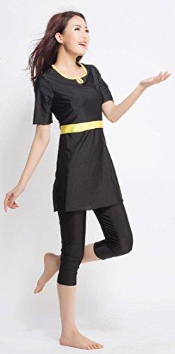 YEESAM Bescheiden Bademode Frauen Surfing Suit Muslim Hindu Jüdisch Shorts Badeanzug Sonnenschutzmittel Schwarz