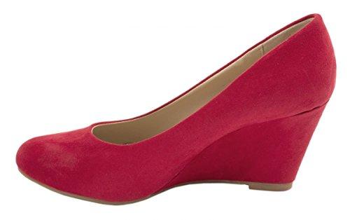 Elara - Scarpe con plateau Donna Rosso (rosso)