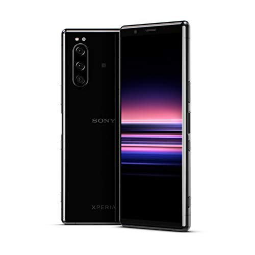 sony xperia 5 smartphone, display 21:9 da 6.1 fhd+ hdr oled, fotocamera con tre obiettivi e con eye af, 6gb di ram, 128gb di memoria, nero