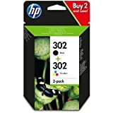 HP 302 2-pack Black/Tri-colour Original Ink Cartridges Combo pack X4D37AE