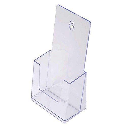 Prospekthalter DIN lang 1/3 A4, Aufsteller Prospektständer Flyerhalter Flyerständer glasklar Prospekthalter DIN lang