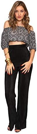 Aarzoo Damen Hose mit Plisseefalten und hohem Bund