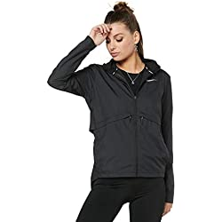 Nike W Nk Essntl Impermeable Deportivo Para Mujer Color Black Talla L