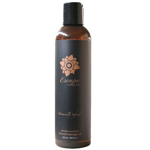 Sliquid Balance Collection Massage Oil 8.5oz - Escape, 1er Pack (1 x 255 ml) (Mango-vanille-extrakt)