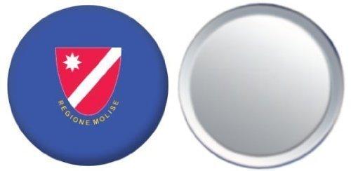 Miroir insigne de bouton Italie Molise drapeau - 58mm